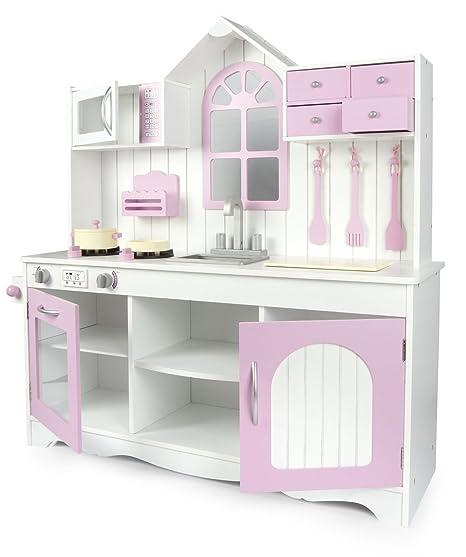 leomark cucina exclusive royal rosa giocattolo per bambini gioco in legno giocare dimitazione nuovo