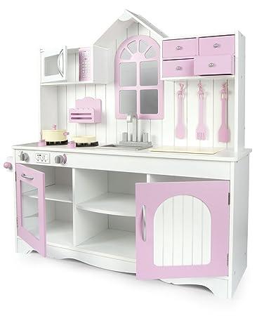 Cucine Giocattolo In Legno Usate.Leomark Cucina Exclusive Royal Rosa Giocattolo Per Bambini Gioco