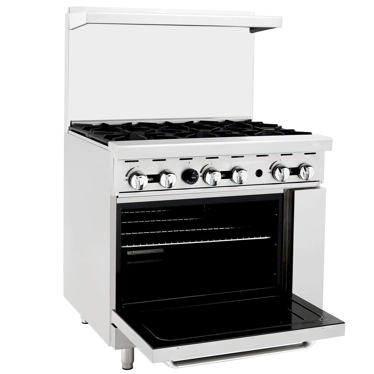 CookRite-ATO-6B-Commercial-Manual-Liquid-Propane-Range-6 -Burner-Hot-Plate-With-1-Standard-Oven-36