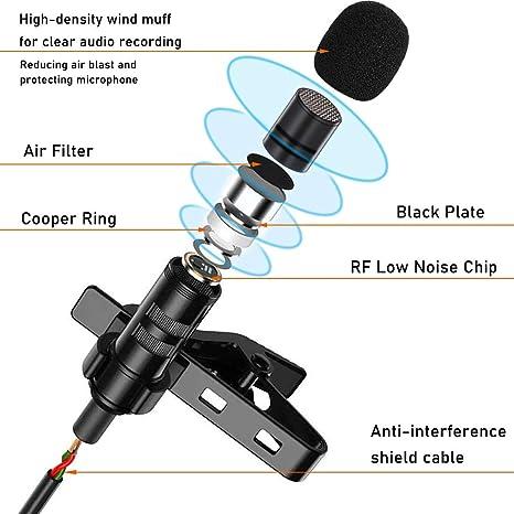 Exliy Mini Microphone Microphone st/ér/éo Micro 3,5 mm plaqu/é Or Prise Jack pour PC Portable MD Appareil Photo enregistreur de Son