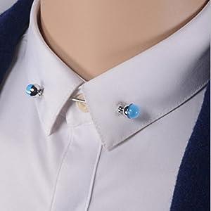Epinki Hombre Azul Ópalo Collar Pin Bar Pin Camisa Corbata Pin ...