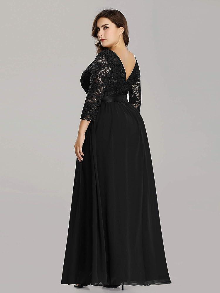 Ever-Pretty Ladies Burgundy Long Formal Evening Bridal Wedding Dresses 07412