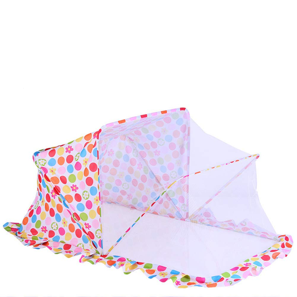 HCMPM Foldable Mosquito net Cover yurt Baby Mosquito net Children's Crib Mosquito Breathable Bottomless Foldable Free Installation Universal,Pink,1256860cm