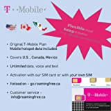North America Mobile Travel Plan(USA Travel sim Card): Flexible Days, Unlimited High Speed Data/Calls/Texts, T-Mobile…
