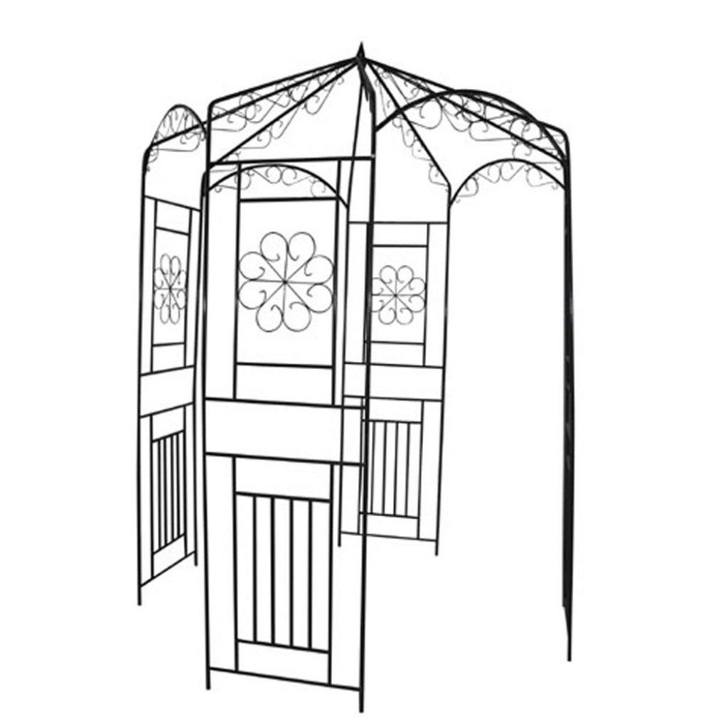 Anself Metal Garden Rose Arch 250 cm Black