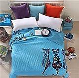 Auvoau Boho Style Bedspread Bohemian Bedding Girl Bedding Bedspread Boho Style Quilt (Queen, 3)