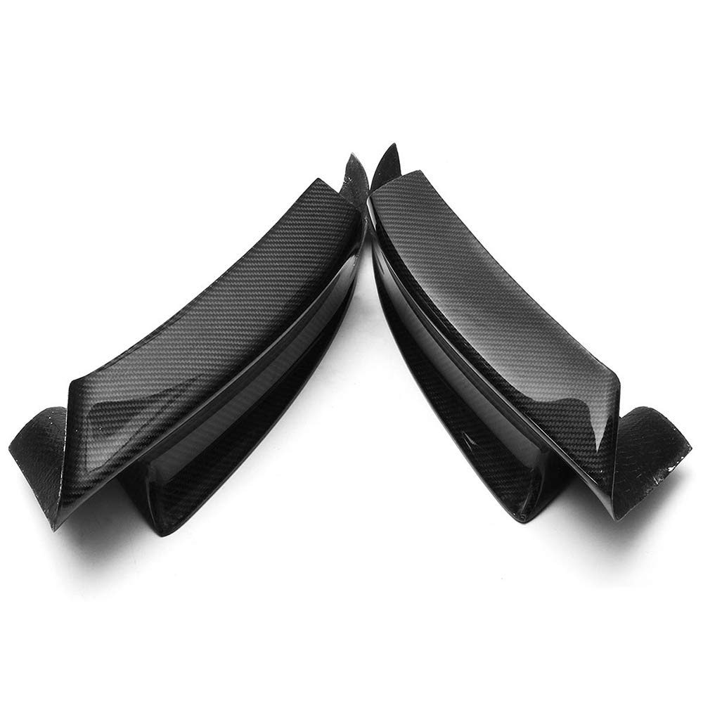 Jarhit 2 Stuecke Carbon Front STO?Stange Lip Splitter Spoiler Flap Cupwings f/ür 07-12 E92 E93 M3