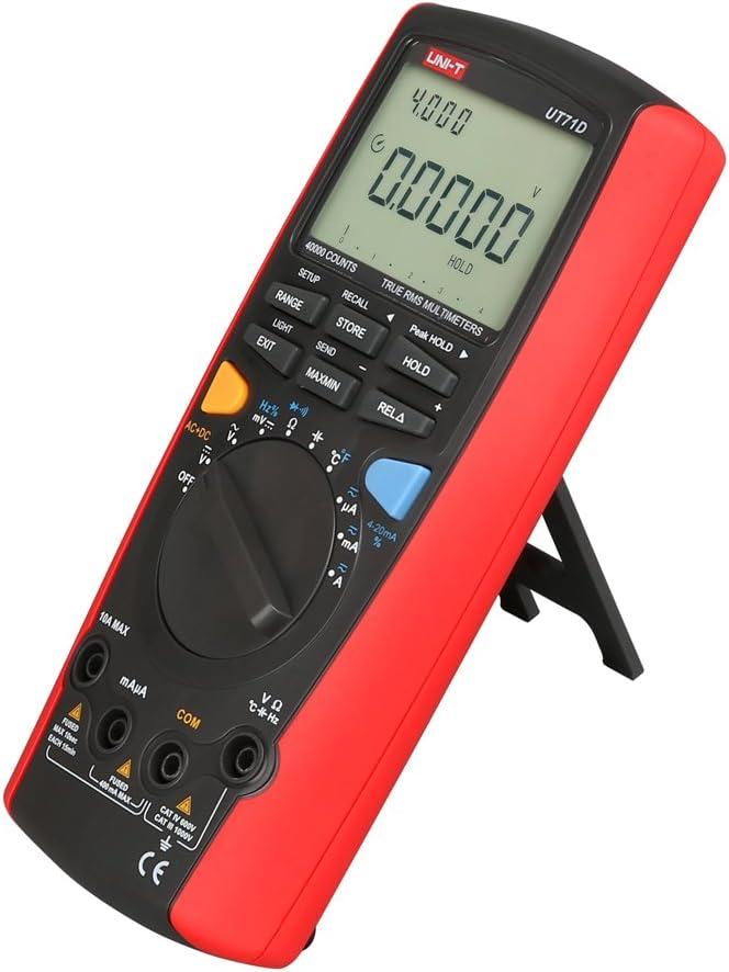 Uni T Ut71d Multimeter Effektivwert Automatische Datenspeicherung Ac Dc Volt Ohm Kapazitäts Tester Baumarkt