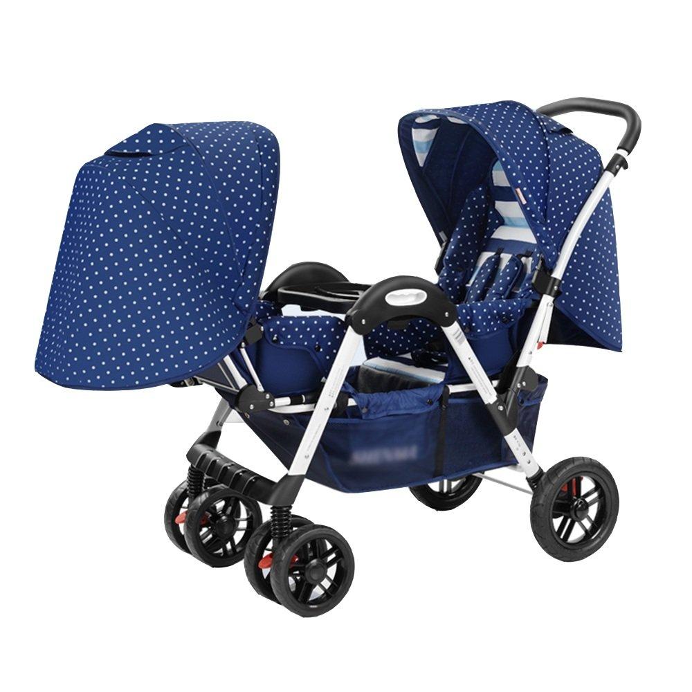 HAIZHEN マウンテンバイク 安全な完全なトリオトラベルシステムプラム&ラグジュアリーベビーカー 新生児 B07C6V5LFD 青 青
