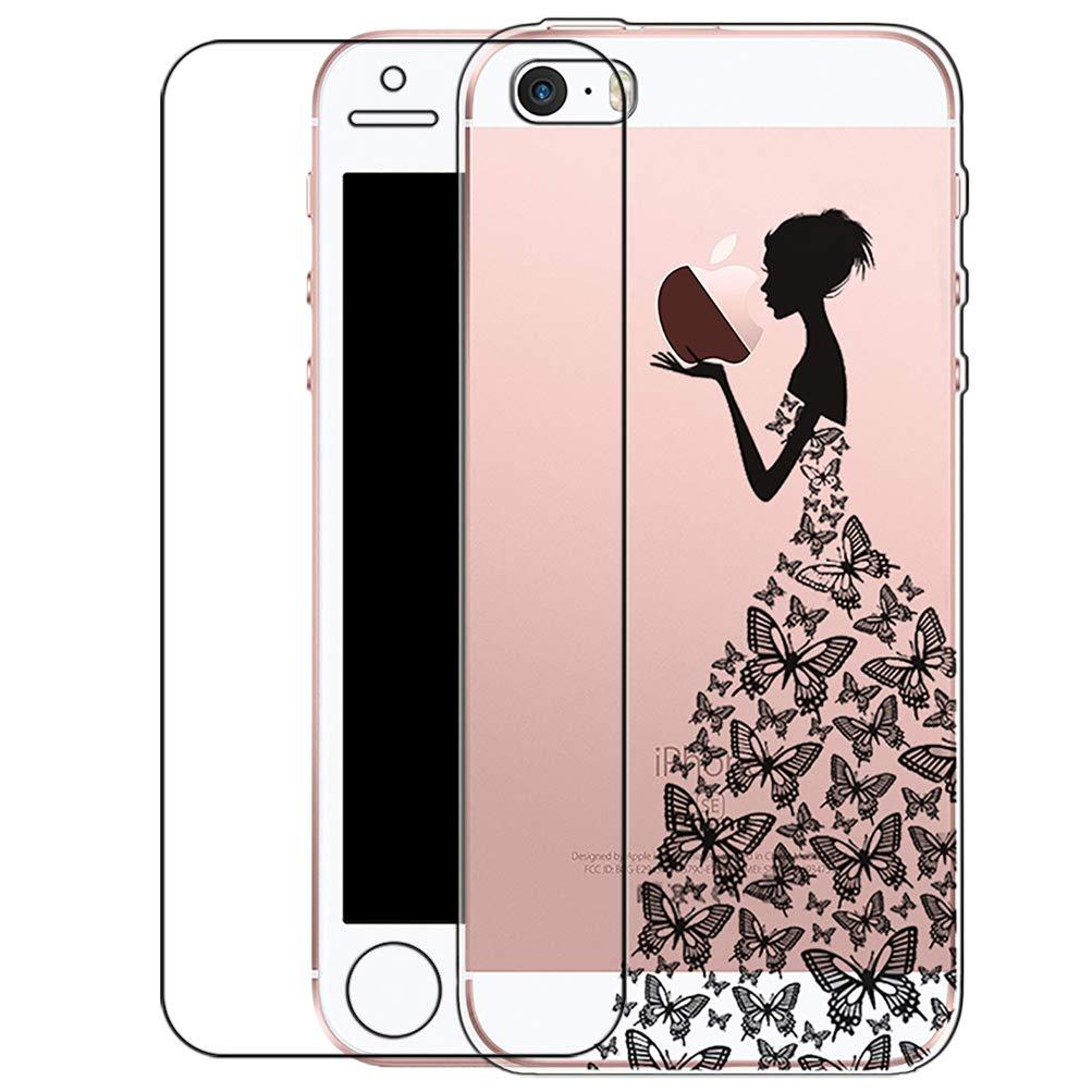 Carcasa iPhone SE/5/5S con vidrio Templado Pantalla ...