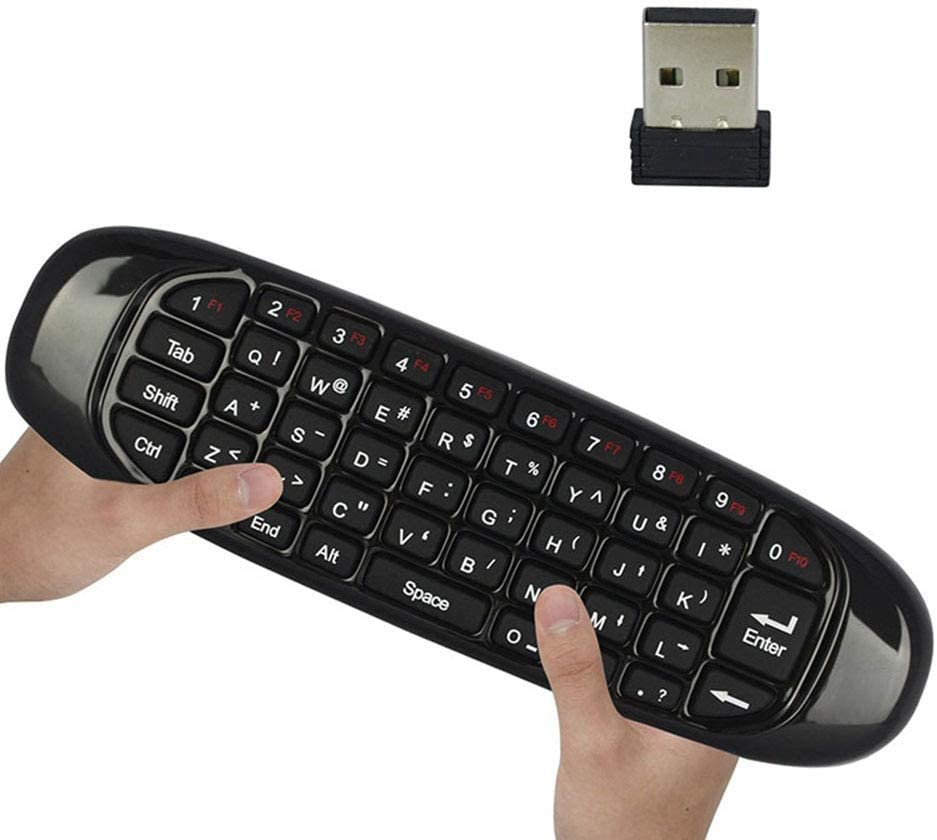 Calvas 2.4Ghz Wireless Air Mouse Bulit-in battery MINI USB Keyboard Remote Control for smart TV set-top boxes PC game consoles