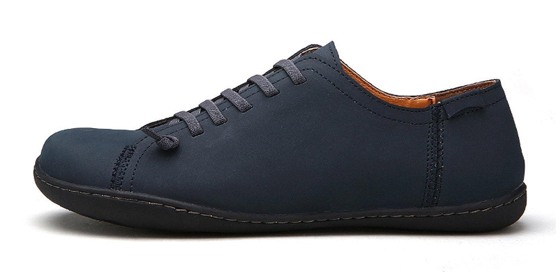New 2018 Mens schuhe Split Leather Men's Flats Handmade Mens Loafers Fashion Designer Slip on Espadrilles Navy 38