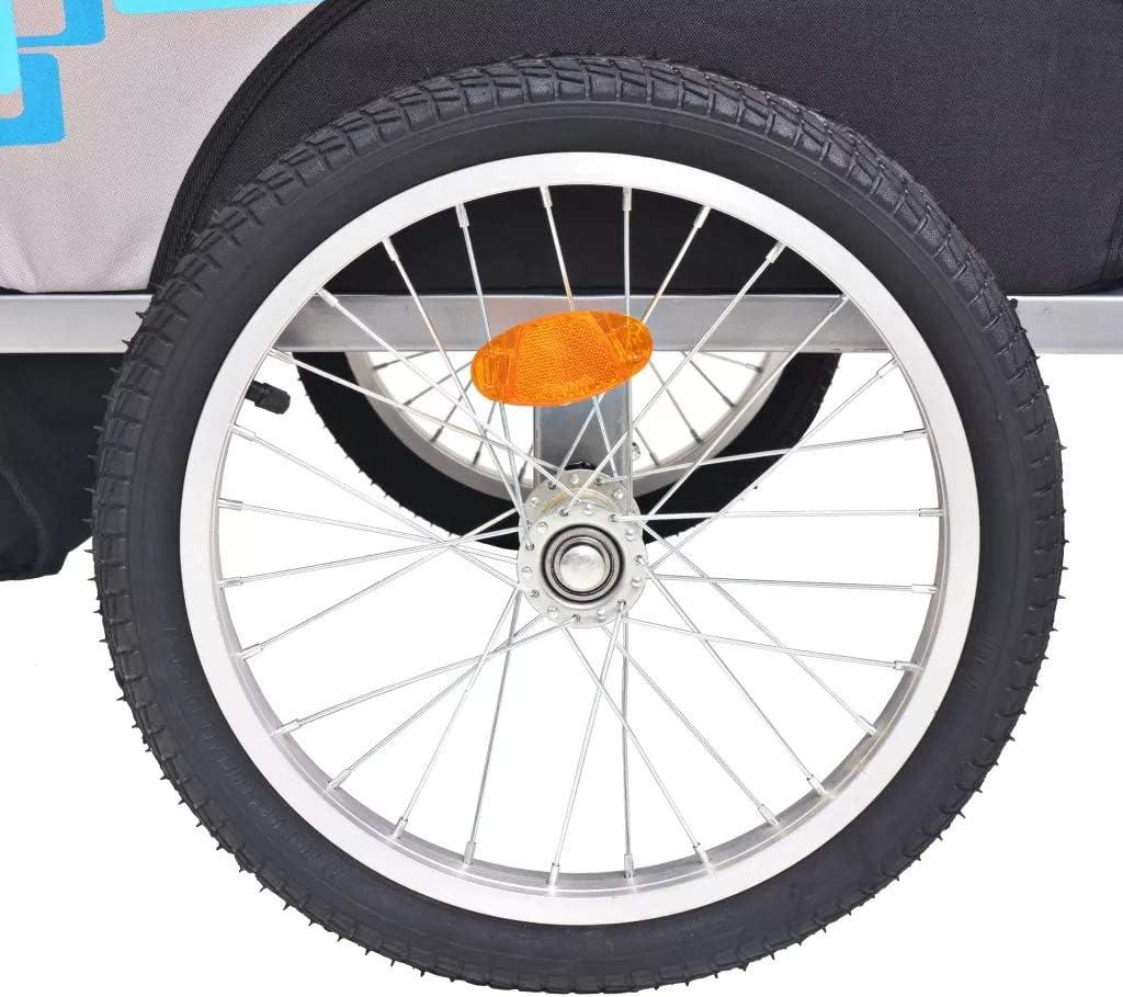 Hellblau B x T x H Wakects Fahrradanh/änger Kinderfahrradanh/änger Anh/änger Fahrrad Jogger Komfort mit Federung Geeignet f/ür 1-2 Kinder,Gr/ö/ße des Sitzplatz 62 x 72 x 61 cm