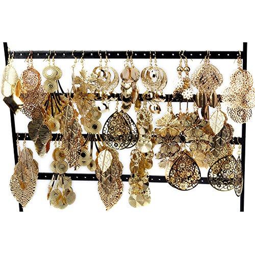 Yantu-Wholesale-Jewelry-Lots-12pairs-Mixed-Style-Gold-Plated-Stud-Hoop-Dangle-Earrings