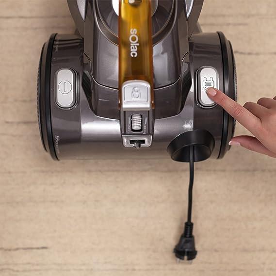Solac Multiclonic-Aspirador multiciclónico (800 W, Filtro HEPA, 2 cepillos, Capacidad 3 litros, accessorios), Naranja y Negro: Amazon.es: Hogar