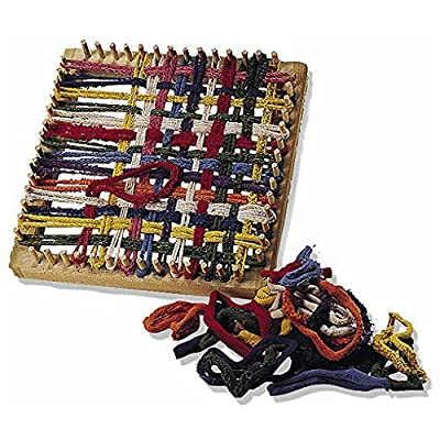 Folk Toys Classic Kid Wooden Weaving Weave Potholder Craft Wood Looper Loom: Toys & Games