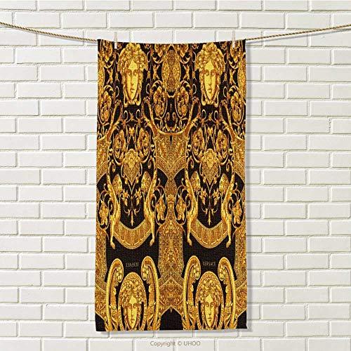 DESPKON-HOME Towel for Kitchen Versace Logo Towel Headband for Washing face W 14