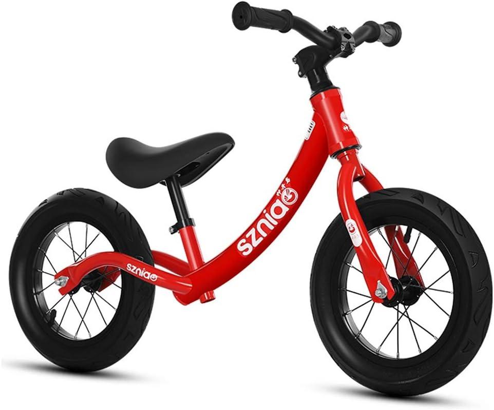 BLWX LY Bicicleta de Equilibrio for niños pequeños, Bicicleta sin Pedal for Caminar con Marco de Acero al Carbono, for 2,3,4,5,6 años ( Color : Red )