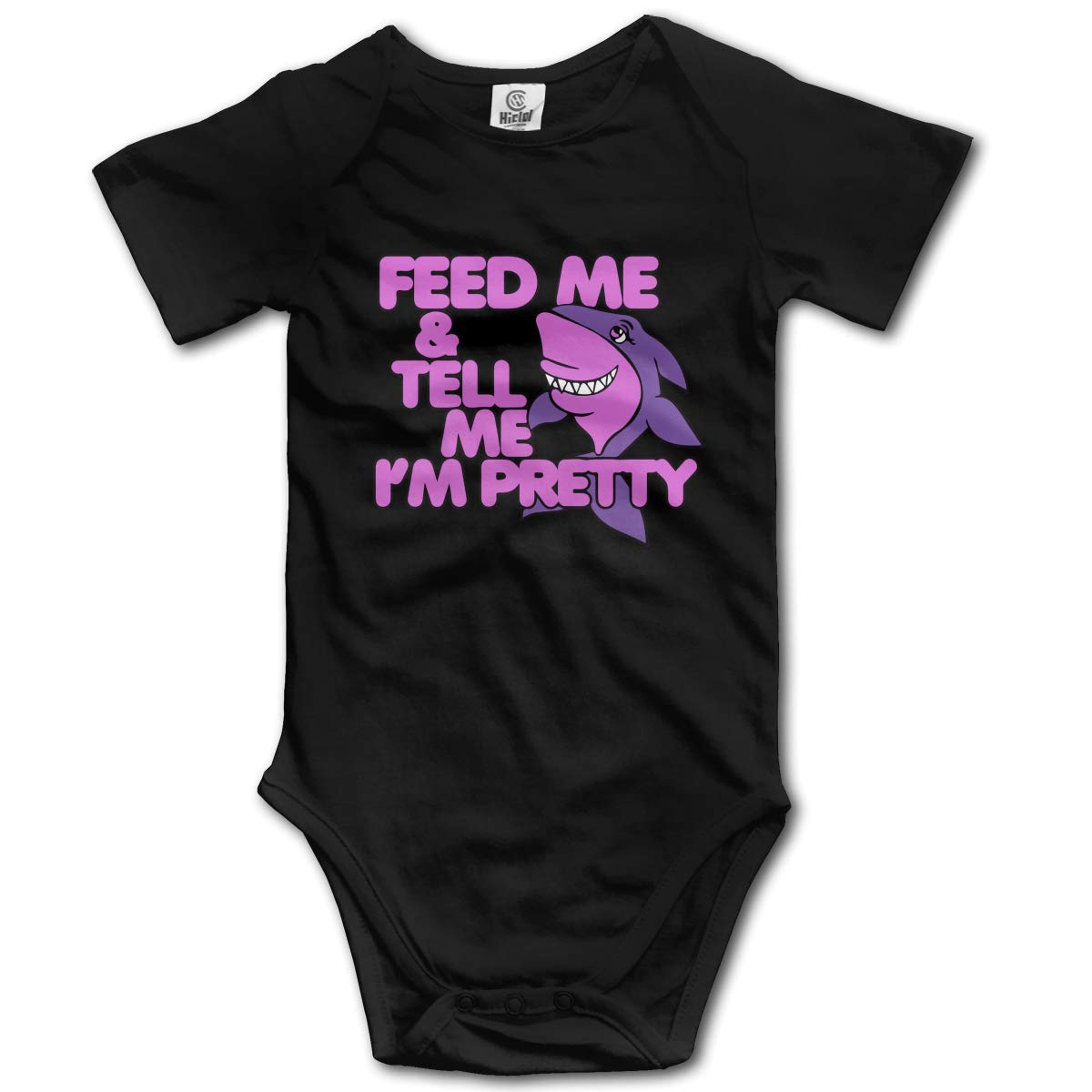 Feed Me and Tell Me Im Pretty Baby Unisex Short Sleeve Romper Pajamas 0-2T