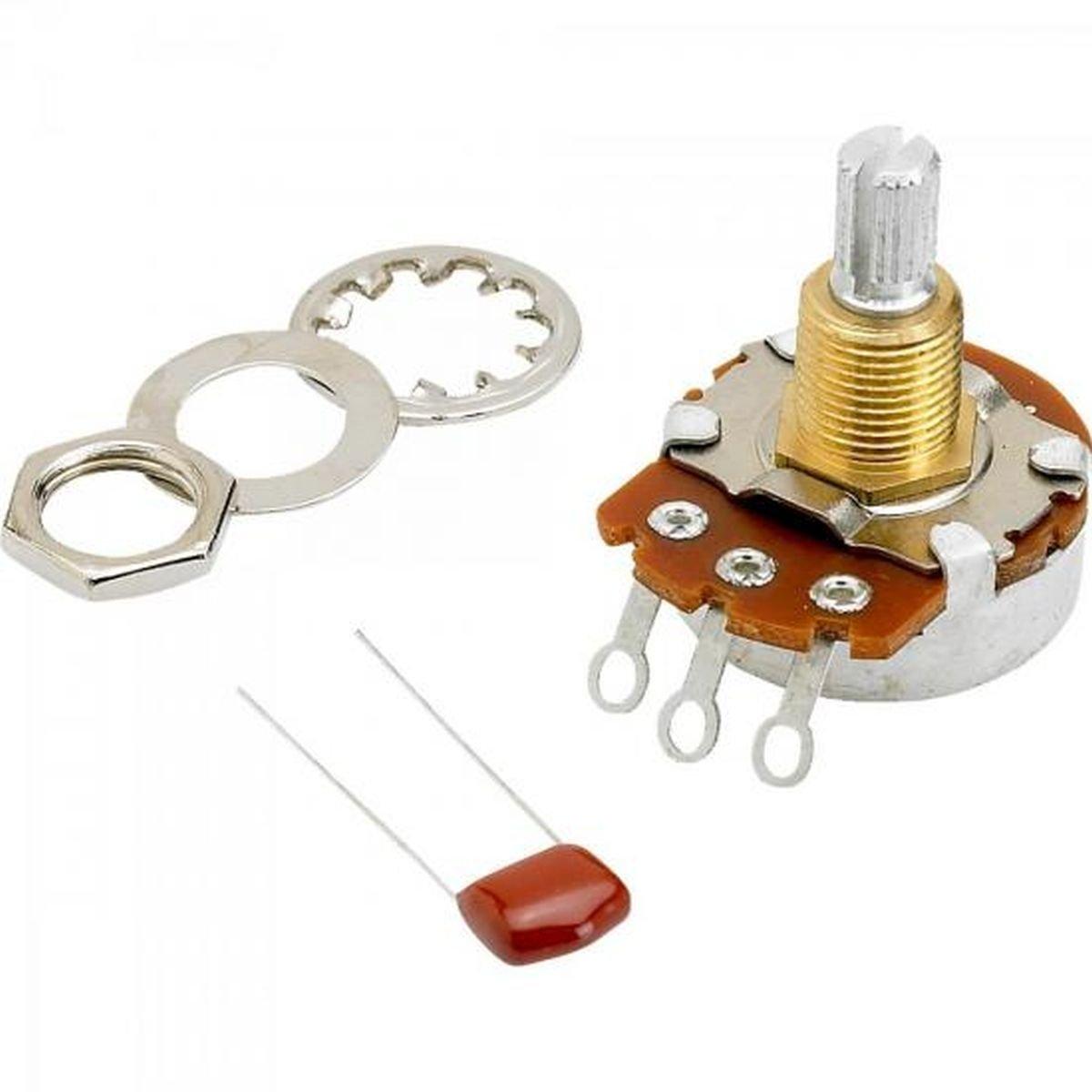 Fender 500K, Split Shaft Potentiometer for Volume or Tone