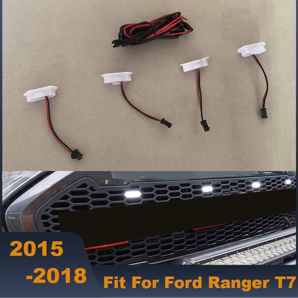 wowowa 4pcs griglia da Corsa Anteriore drl LED Bianco Giallo Luce Diurna per Ford Ranger griglia 2015 2016 2017 2018