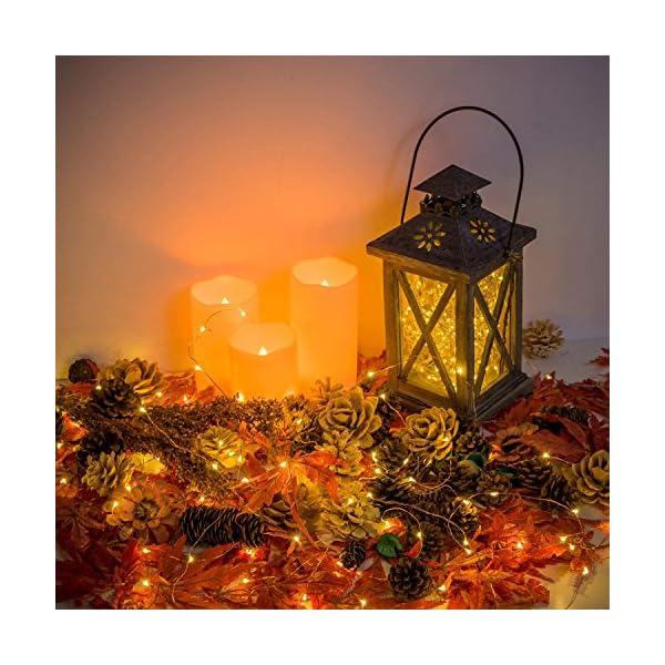 Stringa Luci LED Batteria, 2 Pacchi 4M 40 LEDs Catena Luminosa, Luci Natale Impermeabili per Natalizie Decorazioni Interni ed Esterni (Bianco Caldo) 7 spesavip