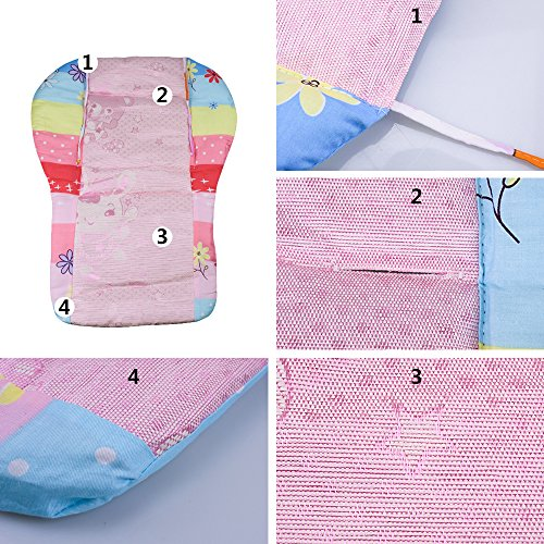 Topwon Baby Stroller/Car Seat/High Chair Wateroof Rainbow Striped Breathable Cushion Seat Liners Cover Protector by Topwon (Image #2)