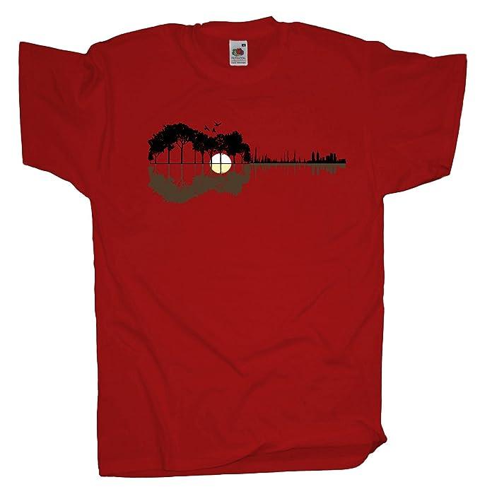 ma2ca - Camiseta para hombre, Sounds from the Woods, estampado de guitarra de banda de música: Amazon.es: Ropa y accesorios
