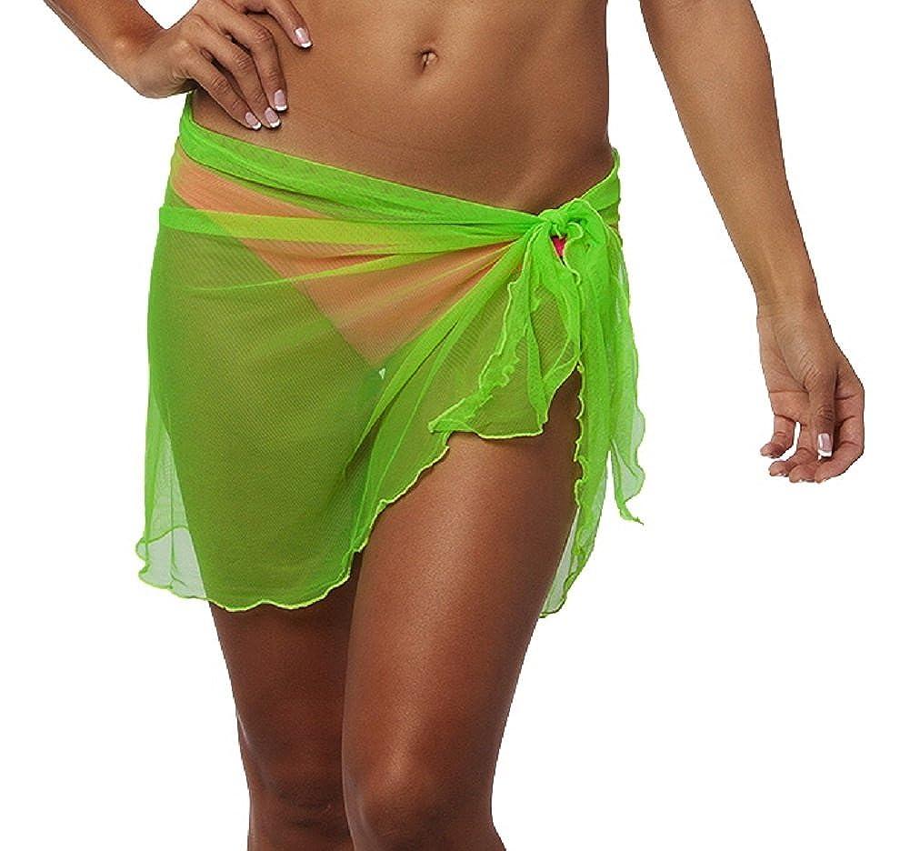 a6fbbe2127b81 Coqueta Mesh Cover up Swimwear Beach Sarong Pareo Canga Swimsuit Wrap  CQ502CORAL-O S