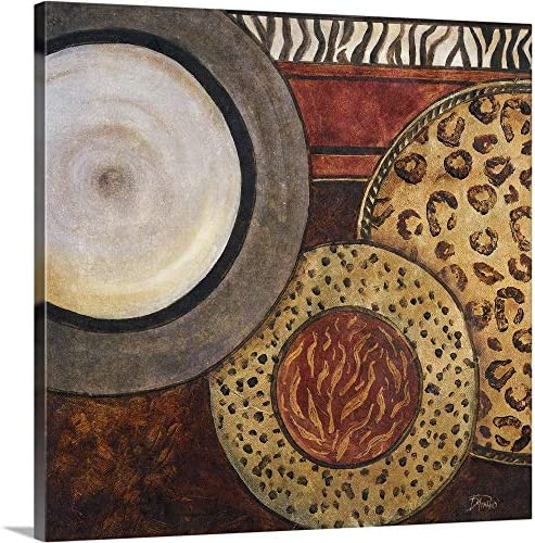 African Circles II Canvas Wall Art Print