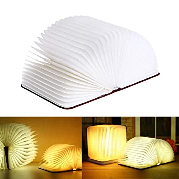 LED Night Light PFSN Folding Book Lamp with White and Yellow Lights 2W USB  Charging Mobile 7caed540c