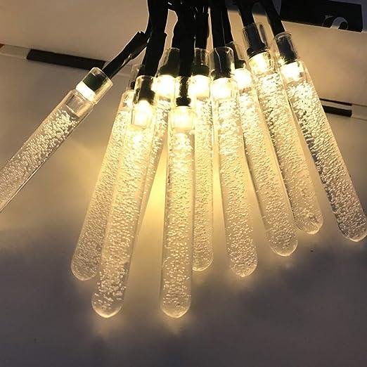 Kevinliu Tubo Pendiente de la luz Cadena de Solor con 20 Leds y la Burbuja de