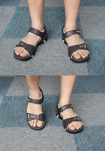 Kunsto Men's Sport Outdoor Sandal US Size 10 Brown by Kunsto (Image #6)