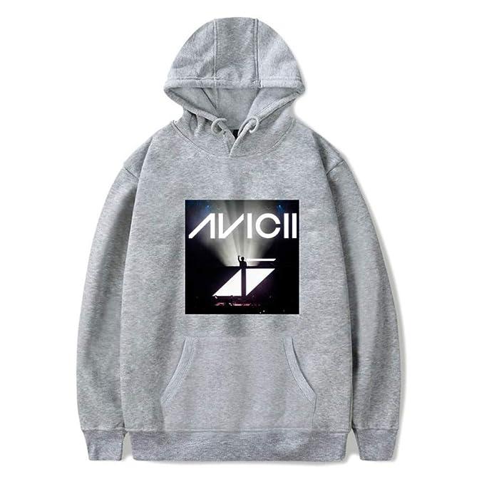 HOOMOLO Unisex DJ Avicii Ocasionales Personalizadas CÓModo Sudaderas con Capucha Fashion Estampados Sueter para Hombre y Mujer: Amazon.es: Ropa y accesorios