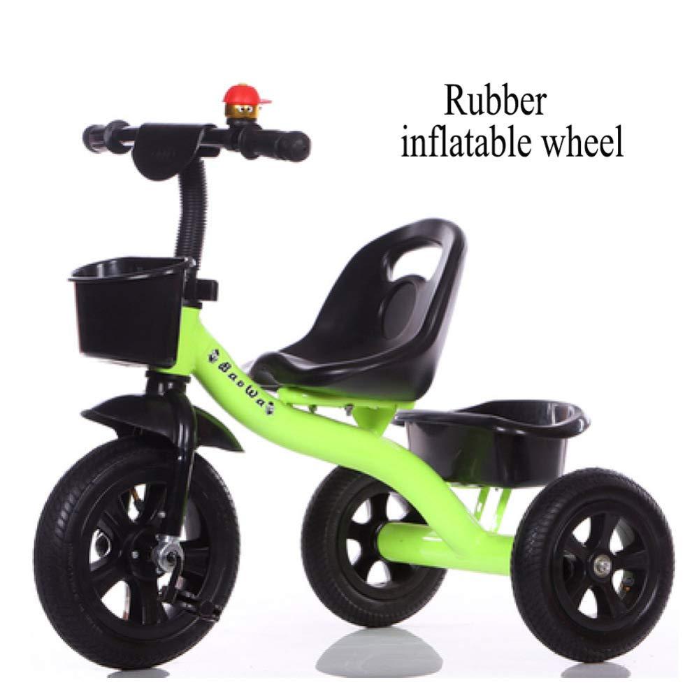 GIFT Bicicleta para Niños Niños Niños Triciclo El Asiento De Triciclo Se Puede Ajustar, Rueda Suave/Goma EVA, 2-6 Años,J