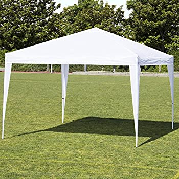 Best Choice Products 10x10ft Outdoor Portable Lightweight Folding Instant Pop Up Gazebo Canopy Shade Tent w/Adjustable Height, Wind Vent, Carrying Bag – White