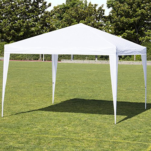 (Best Choice Products 10x10ft Outdoor Portable Adjustable Lightweight Sturdy Instant Pop Up Gazebo Shade Canopy Tent w/Carrying Bag, Easy Assembly & No Tools Needed - White)