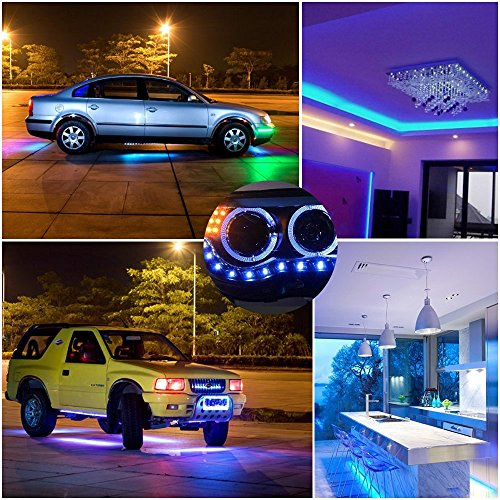 Boomile 16.4ft LED Flexible Light Strip, RGB 300 LEDs SMD 5050, LED Strip Lights, Waterproof Light Strips Kit, LED ribbon, Holiday Home Kitchen Car Bar Indoor Ceiling Party Decoration by Boomile (Image #7)