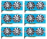6 Packs of Radeon RX 580 GAMING X 8GB GDDR5 Graphics Card for Crypto Coin ETH Ethereum Zcash ZEC Bitcoin Mining Rig