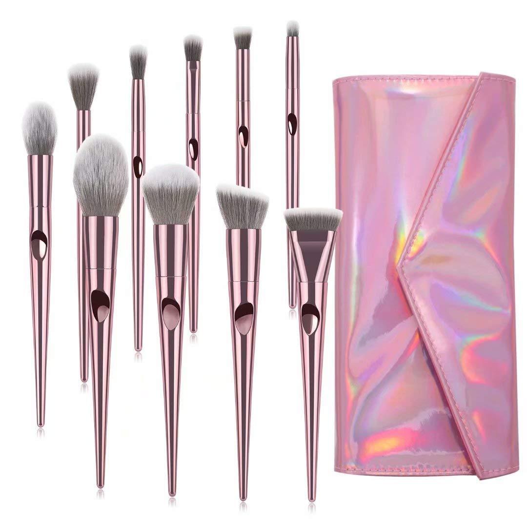 9f5761f1170b Makeup Brushes, ITME Premium Professional Makeup Brush Set With Purse,10  PCS Synthetic Cosmetics...