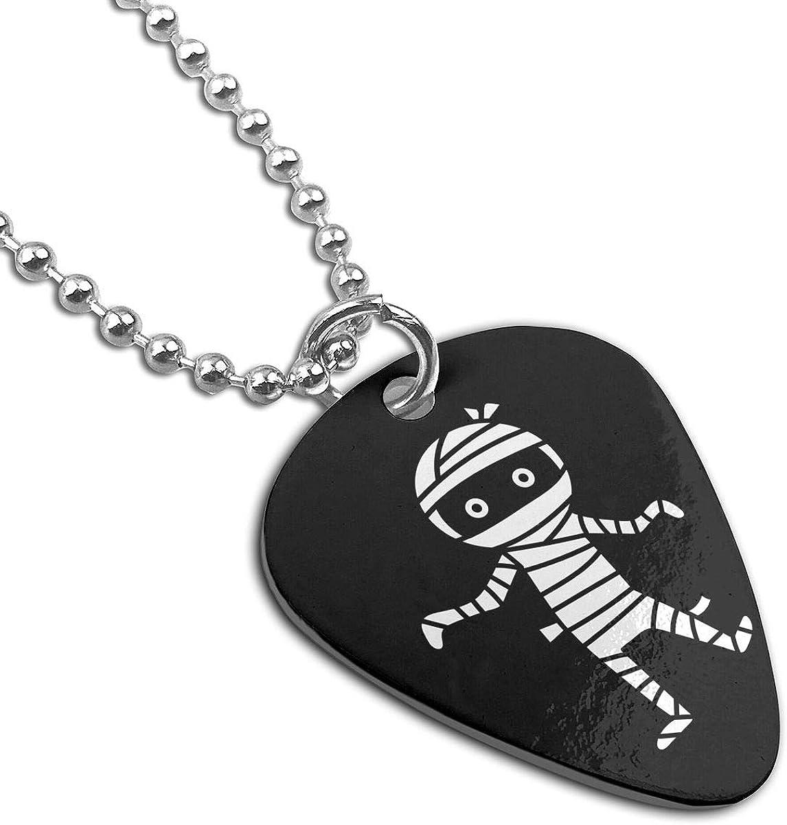 Halloween Mummy Custom Guitar Pick Pendant Necklace Keychain