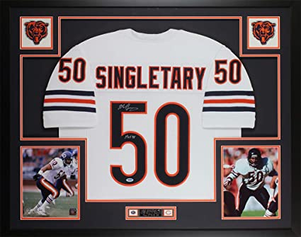 buy online fff53 10b7a Mike Singletary Autographed White Chicago Bears Jersey ...