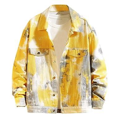 ACEBABY Chaqueta Vaquera Hombre Moda Abrigo Hombre Jacket Suelto ...