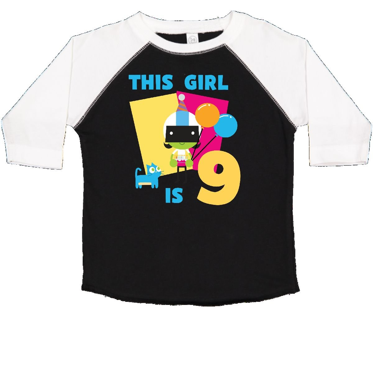 inktastic This Girl is 9 with Dee Toddler T-Shirt PBS Kids