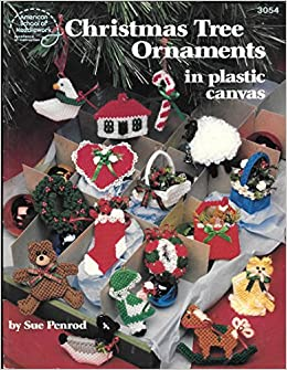 Plastic Canvas Christmas Ornaments.Christmas Tree Ornaments In Plastic Canvas Sue Penrod