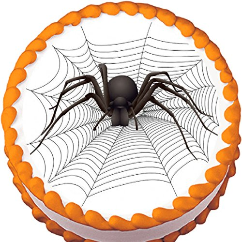 Big Spider Halloween Edible Cake Topper ()