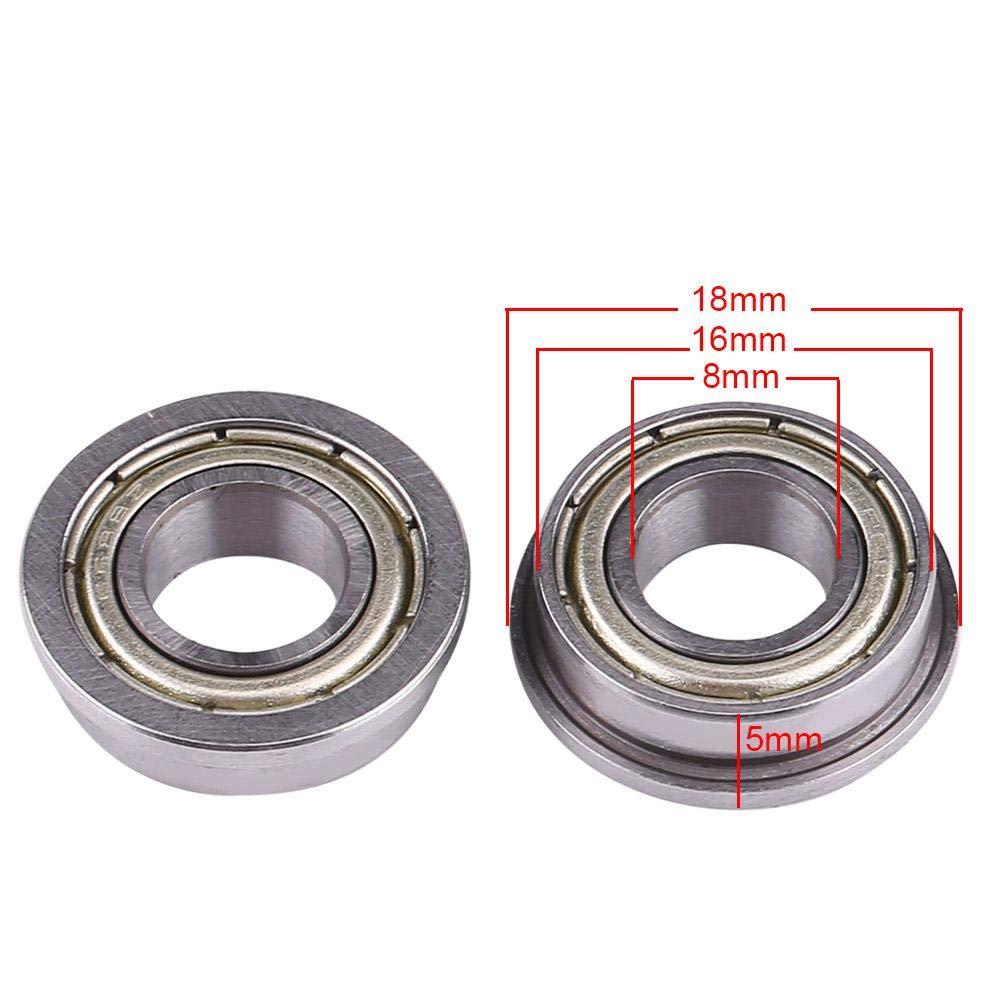 5mm en Acier /à Rouleaux pour Imprimante 3D 16 Roulement /à Billes Lot de 10 Asixx F688ZZ Roulement /à Billes Brid/é et Miniature /à Double Blindage 8 Moteur