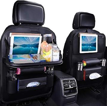 Amazon Com Jecarno Car Seat Protector Back Seat Organizer With