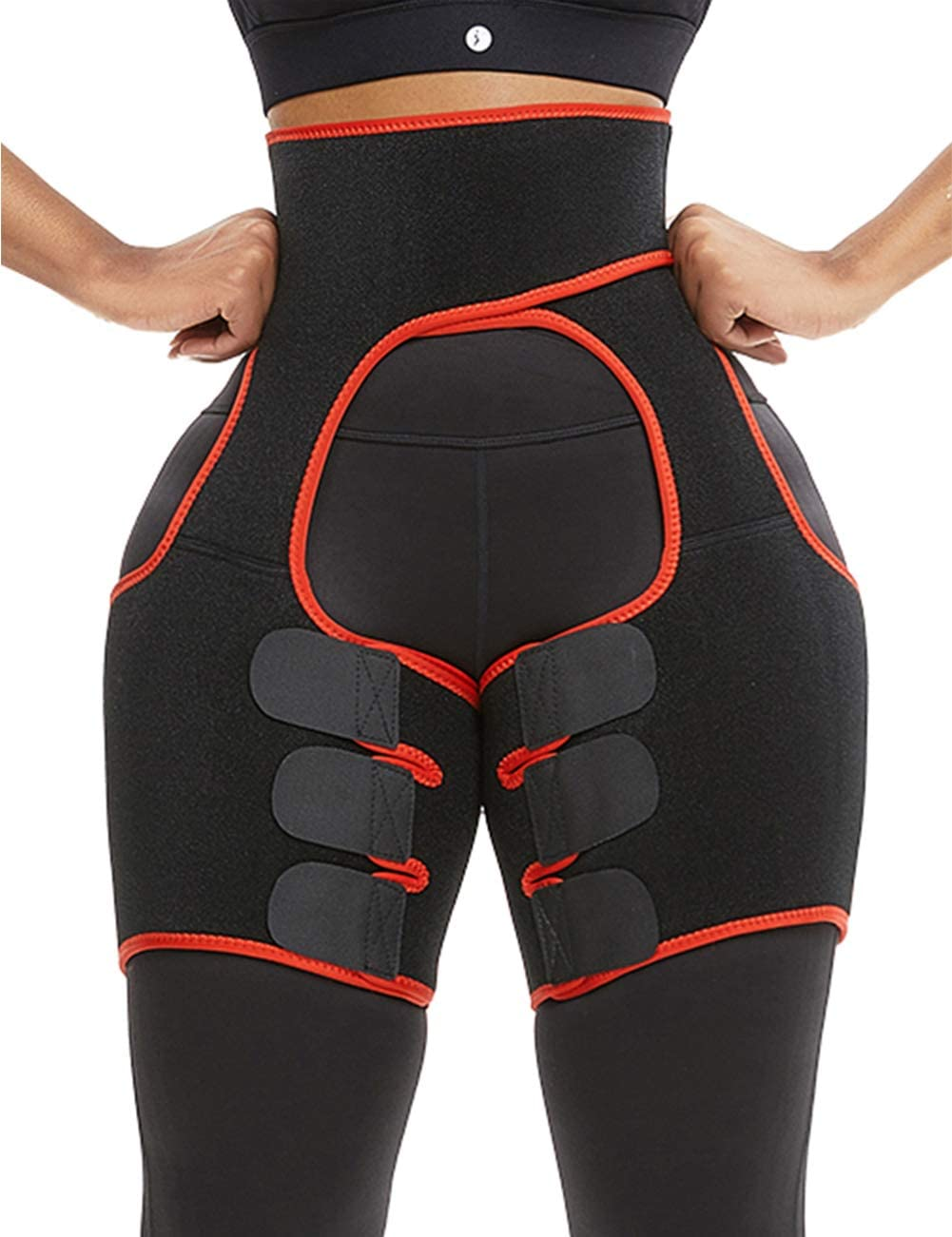 Amazon Com Lover Beauty Breathe Freely Neoprene Thigh Trimmer High Waist Thigh Shaper Thigh Trainer Red Xl Health Personal Care