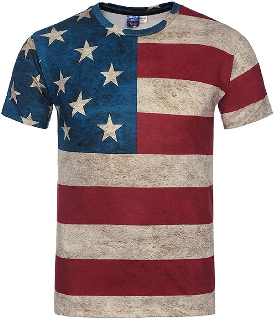 T Shirt Hombre 3D Impreso Camiseta Moda Manga Corta Polo Bandera USA Rayas tee Shirt Tallas Grandes Camisa Retro Clásico XXXL: Amazon.es: Ropa y accesorios